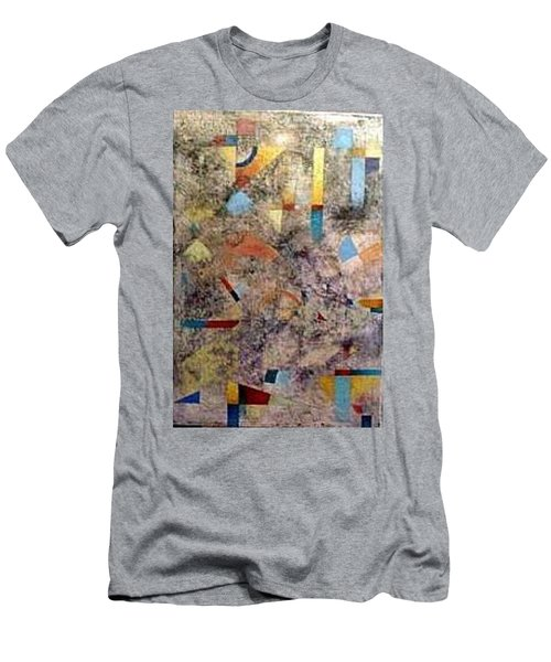 Men's T-Shirt (Slim Fit) featuring the painting Euclidean Perceptions by Bernard Goodman