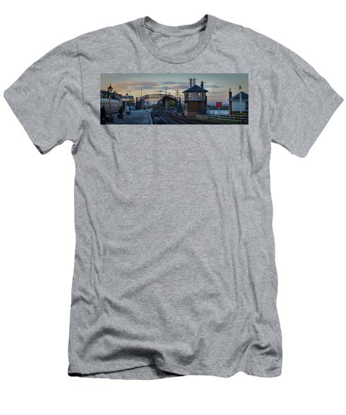 Evening At Bo'ness Station Men's T-Shirt (Athletic Fit)