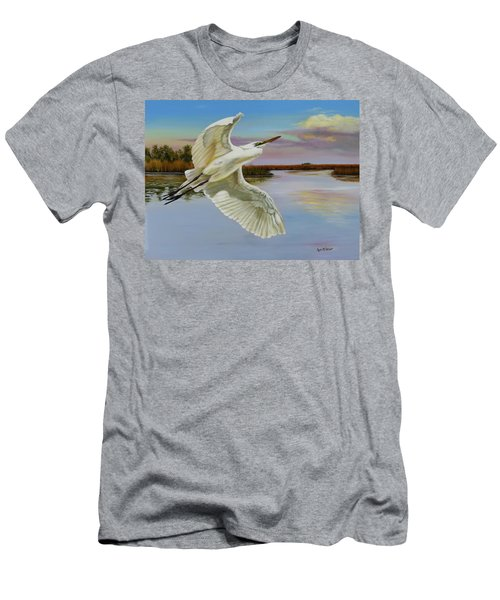 Evening At Campbell's Bayou Men's T-Shirt (Athletic Fit)