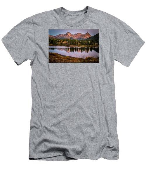 Evening Glow At Molas Lake Men's T-Shirt (Slim Fit) by Michael J Bauer