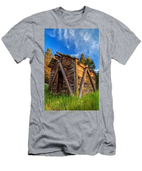 Evening Light On An Old Cabin Men's T-Shirt (Athletic Fit)