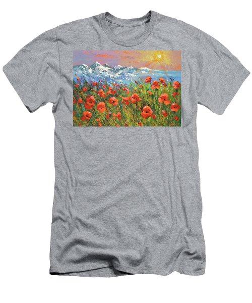Evening Poppies  Men's T-Shirt (Slim Fit)