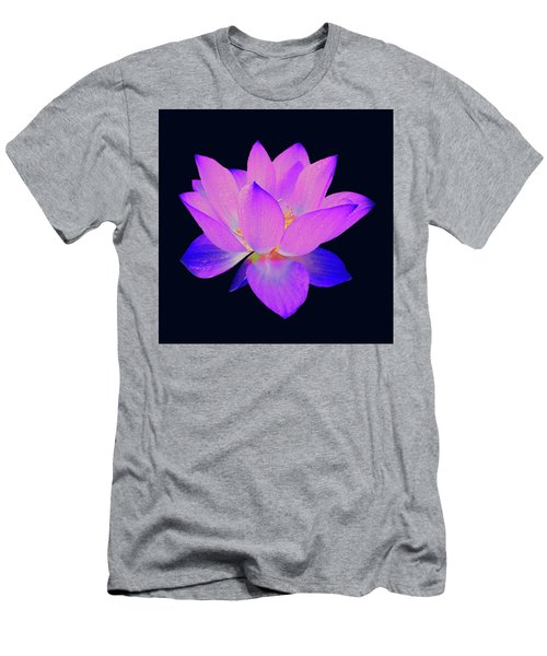 Evening Purple Lotus  Men's T-Shirt (Athletic Fit)