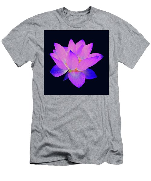 Evening Purple Lotus  Men's T-Shirt (Athletic Fit)