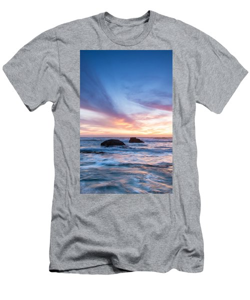 Evening Waves Men's T-Shirt (Slim Fit) by Catherine Lau