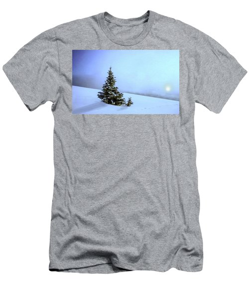Men's T-Shirt (Slim Fit) featuring the painting Evergreen Offspring P D P by David Dehner