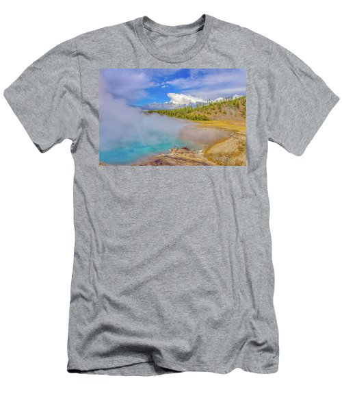 Excelsior Geyser Crater Yellowstone Men's T-Shirt (Athletic Fit)