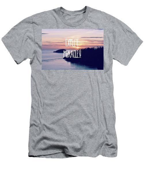 Men's T-Shirt (Slim Fit) featuring the photograph Expect Miracles by Robin Dickinson