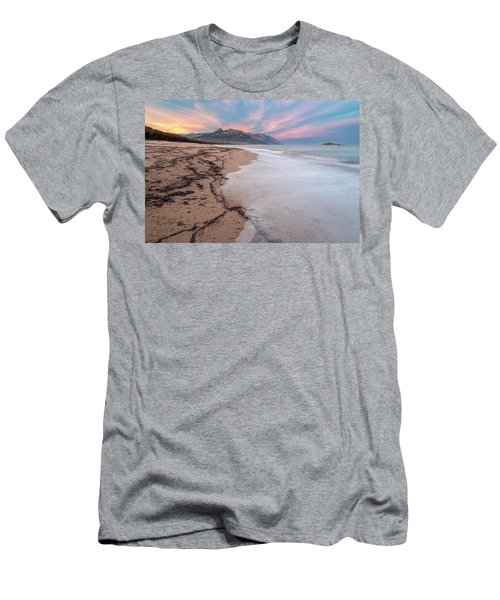 Explosion Of Colors On The Beach Men's T-Shirt (Athletic Fit)