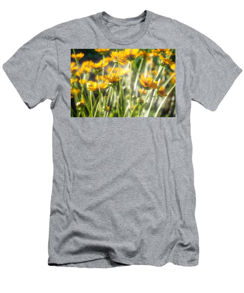 Explosion Of Yellow Men's T-Shirt (Athletic Fit)