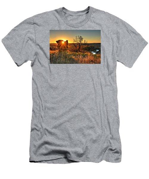 Eye Of The Monolith Men's T-Shirt (Slim Fit) by Fiskr Larsen