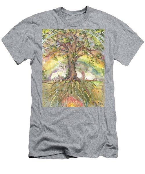 Eye See My Healing Tree Men's T-Shirt (Athletic Fit)