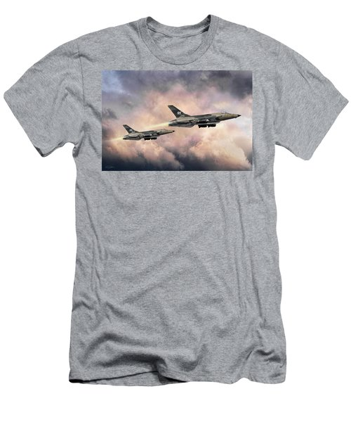Men's T-Shirt (Slim Fit) featuring the digital art F-105 Thunderchief by Peter Chilelli