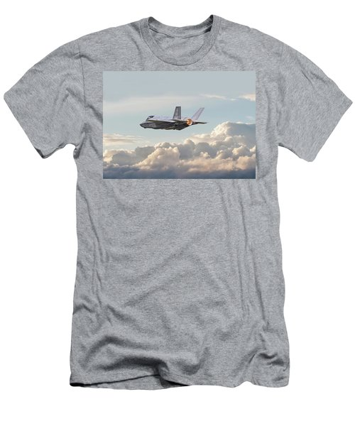 Men's T-Shirt (Slim Fit) featuring the photograph F35 -  Into The Future by Pat Speirs