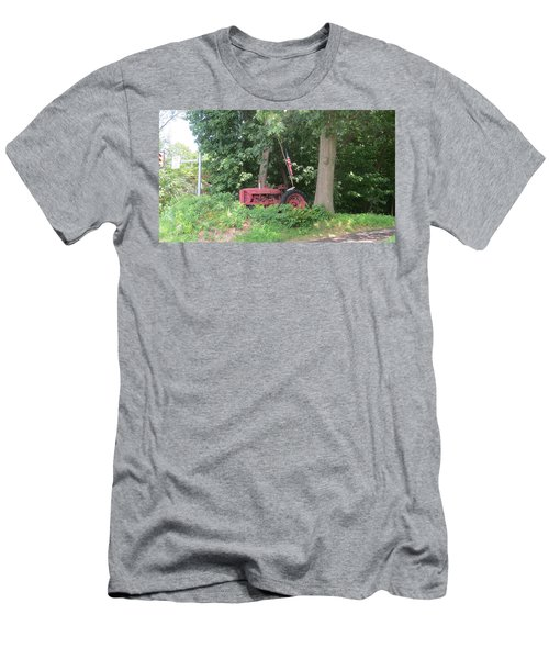 Men's T-Shirt (Slim Fit) featuring the photograph Faithful American Tractor by Jeanette Oberholtzer