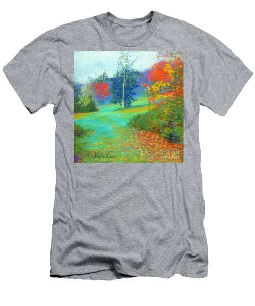 Fall Across The Field  Men's T-Shirt (Slim Fit) by Rae  Smith PAC