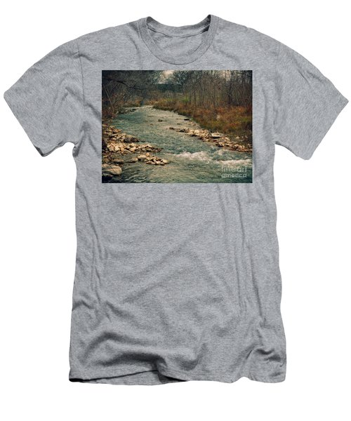 Fall Along The River Men's T-Shirt (Athletic Fit)