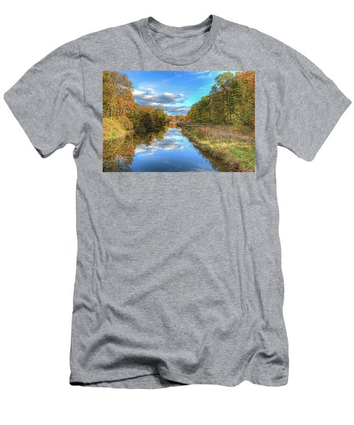 Men's T-Shirt (Slim Fit) featuring the photograph Fall At Brunswick Lake  by Brent Durken