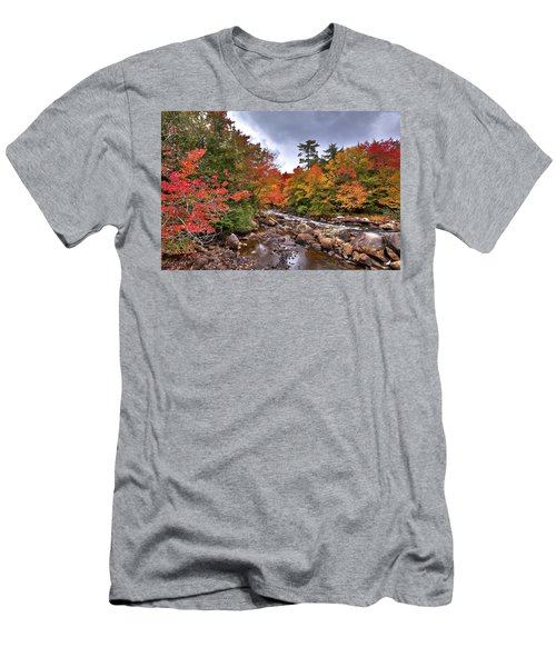 Men's T-Shirt (Athletic Fit) featuring the photograph Fall At Indian Rapids by David Patterson