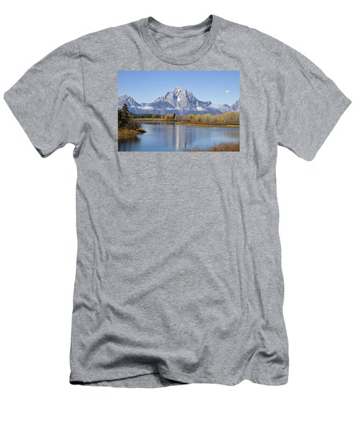 Fall At Teton -1 Men's T-Shirt (Slim Fit) by Shirley Mitchell