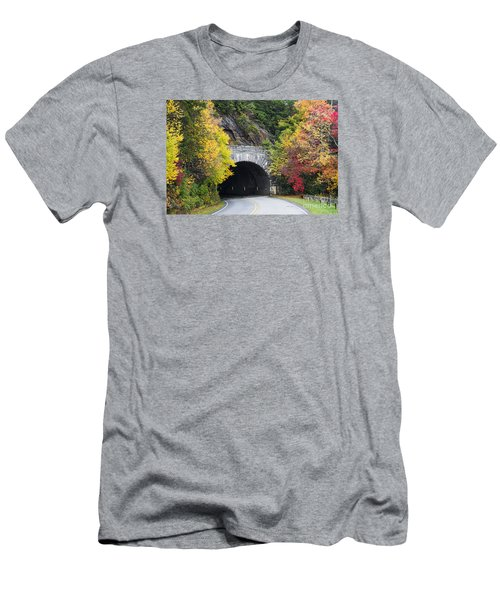 Fall Blue Ridge Parkway @ Rough Ridge Tunnel  Men's T-Shirt (Athletic Fit)