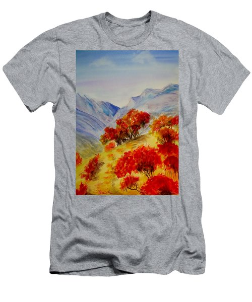 Men's T-Shirt (Slim Fit) featuring the painting Fall Color by Jamie Frier