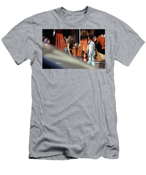 Fall Colors And Bus Riders Men's T-Shirt (Athletic Fit)