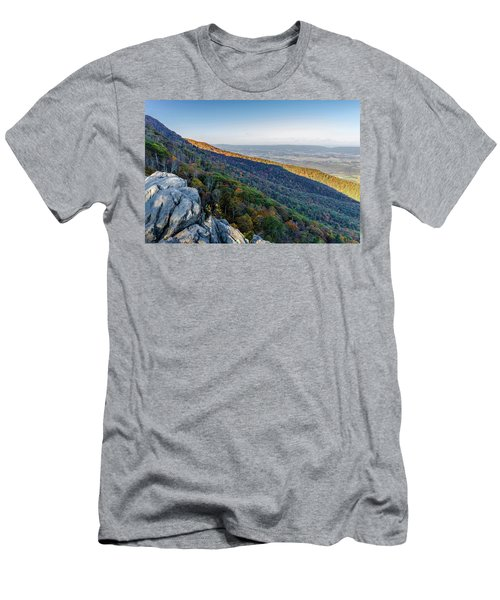 Men's T-Shirt (Athletic Fit) featuring the photograph Fall Foliage In The Blue Ridge Mountains by Lori Coleman