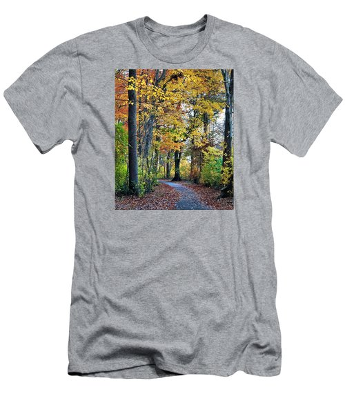 Fall Foliage Men's T-Shirt (Slim Fit) by Mikki Cucuzzo