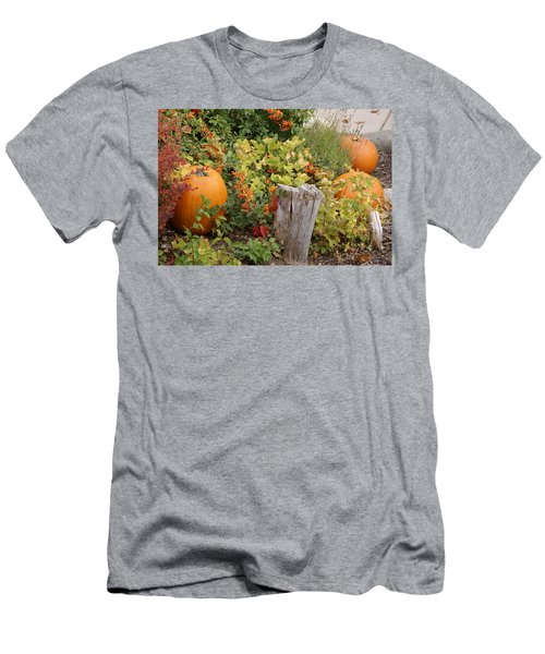 Men's T-Shirt (Slim Fit) featuring the photograph Fall Garden by Cynthia Powell