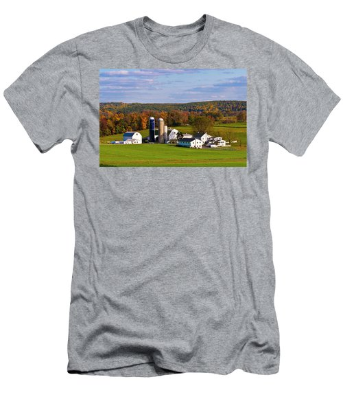 Fall In Amish Country Men's T-Shirt (Slim Fit) by Lou Ford