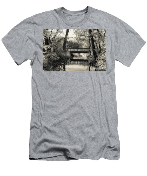 Fall In Black And White Men's T-Shirt (Athletic Fit)