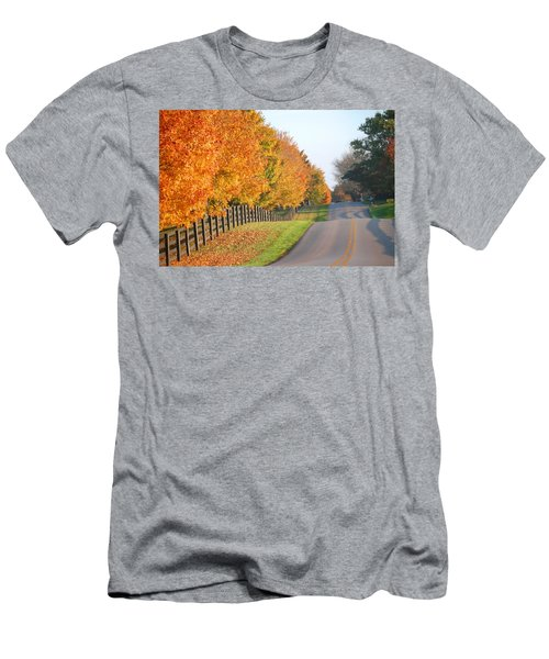 Men's T-Shirt (Slim Fit) featuring the photograph Fall In Horse Farm Country by Sumoflam Photography
