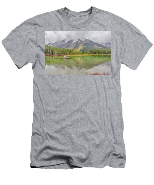 Fall Morning Along String Lake Men's T-Shirt (Athletic Fit)