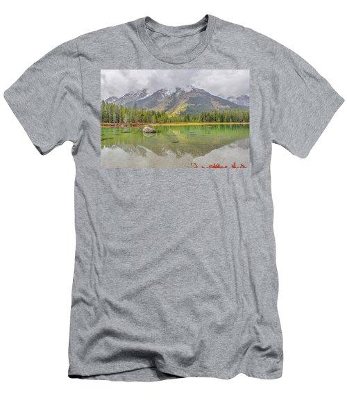 Fall Morning Along String Lake Men's T-Shirt (Athletic Fit)