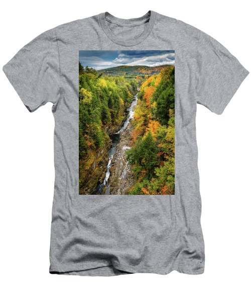 Fall Quechee Gorge, Vt Men's T-Shirt (Athletic Fit)