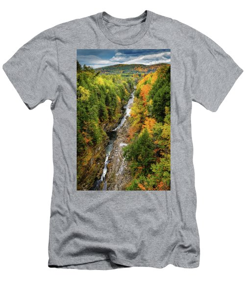 Fall Quechee Gorge, Vt Men's T-Shirt (Athletic Fit)