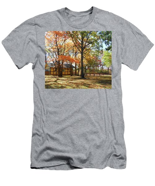 Men's T-Shirt (Athletic Fit) featuring the photograph Fall Shadows In The Park by Irina Sztukowski