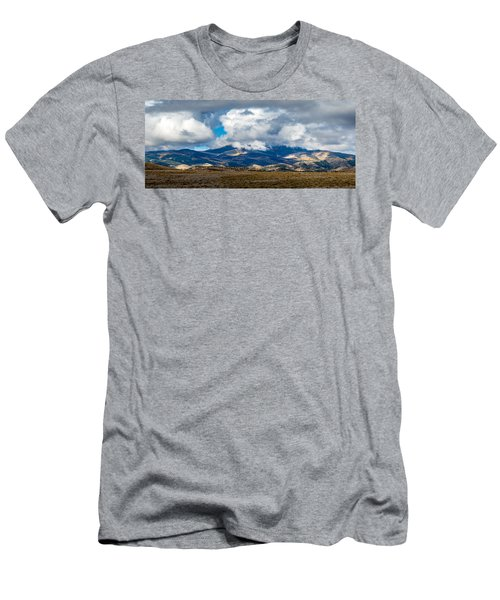 Fall Storm Clearing Off Pintada Mountain Men's T-Shirt (Slim Fit) by John Brink