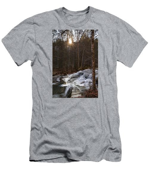 Fall Sunset On Stream Men's T-Shirt (Athletic Fit)