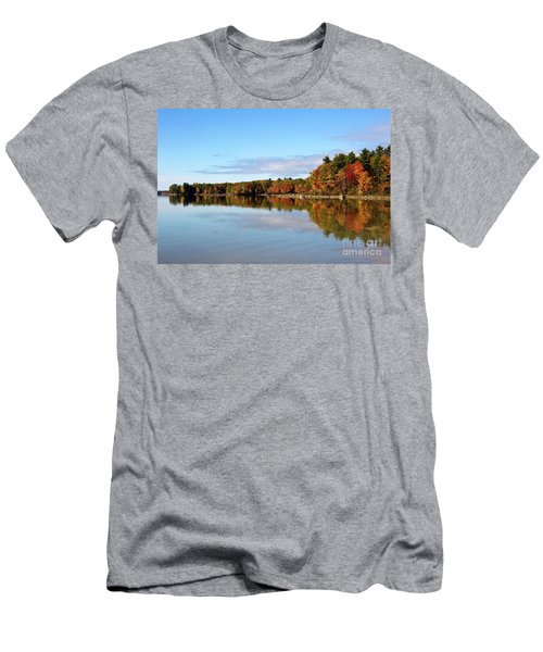 Fall Tree Reflections Lake Sabago Maine Men's T-Shirt (Athletic Fit)