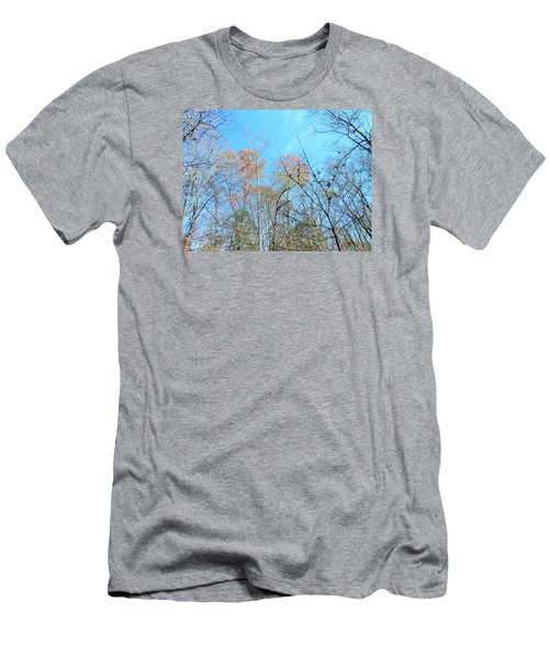 Men's T-Shirt (Slim Fit) featuring the photograph Fall Trees by Kay Gilley