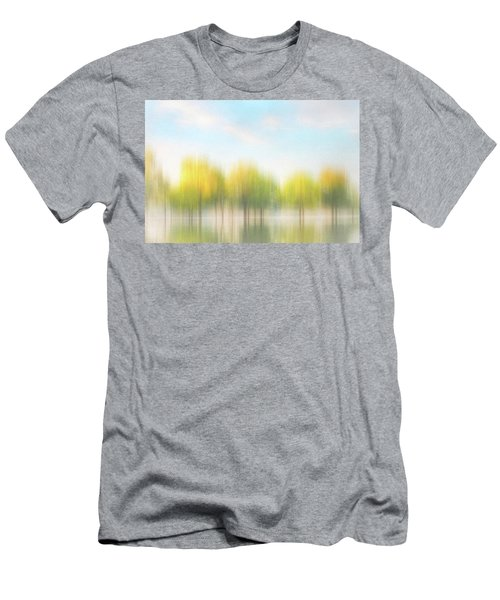Fall Trees On Flooded Lake Men's T-Shirt (Slim Fit) by Robert FERD Frank