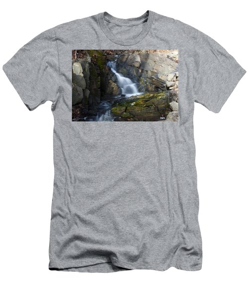 Men's T-Shirt (Slim Fit) featuring the photograph Falling Waters In February #2 by Jeff Severson