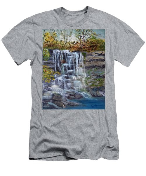 Falls At Rock Glen Men's T-Shirt (Athletic Fit)