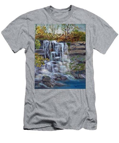 Falls At Rock Glen Men's T-Shirt (Athletic Fit)