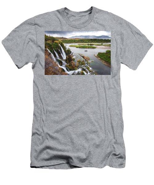 Falls Creak Falls And Snake River Men's T-Shirt (Athletic Fit)