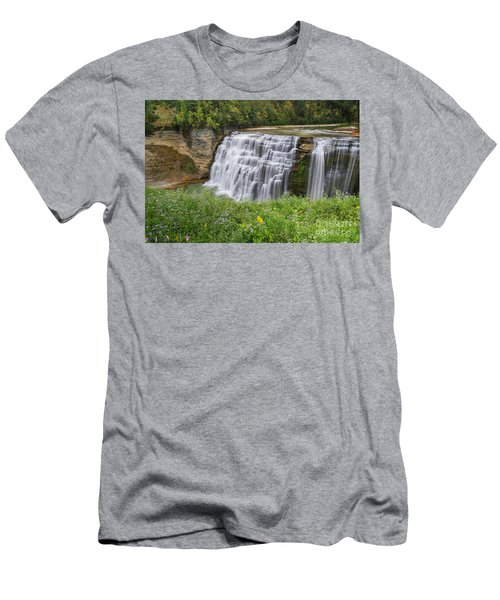 Autumn Flower Of Letchworth Middle Falls Men's T-Shirt (Athletic Fit)