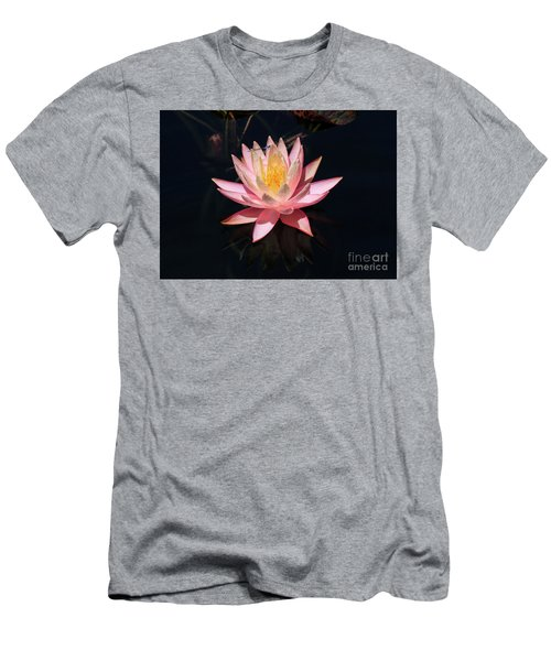 Familiar Bluet Damselfly And Lotus  Men's T-Shirt (Athletic Fit)