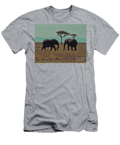 Men's T-Shirt (Slim Fit) featuring the photograph Family by Karen Lewis